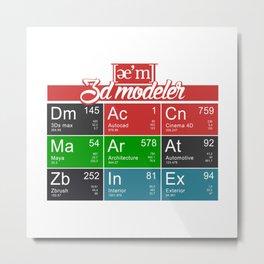 ae'm 3d modeler Metal Print
