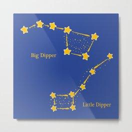 Dippy Constellations Metal Print