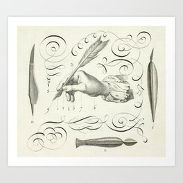 Calligraphy Hand Art Print