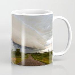 Shelf Cloud Over Country Road 2 Coffee Mug