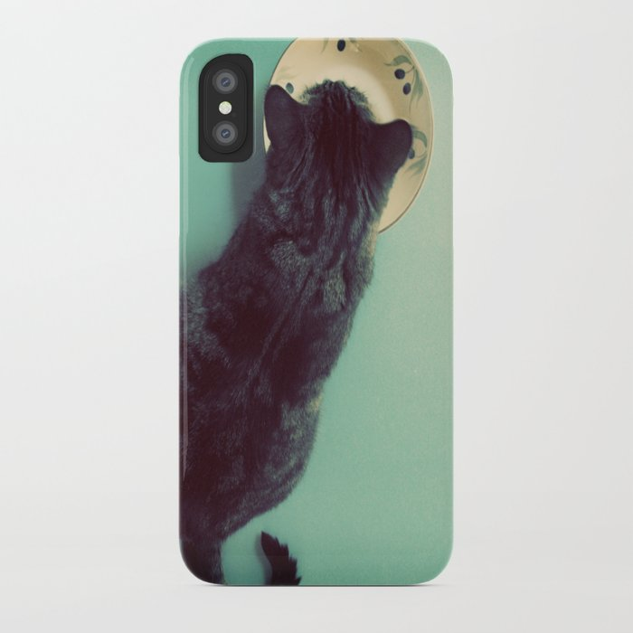 Cat and Saucer iPhone Case