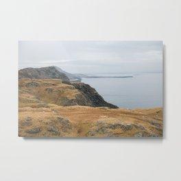 Irish Seaside Cliffs in Slieve League Metal Print