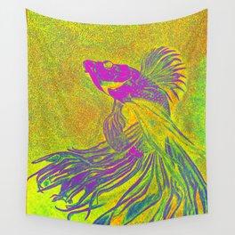 purple betta fish Wall Tapestry