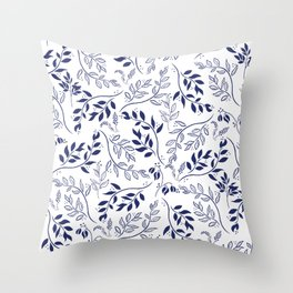 Leaves and Flowers 2 Throw Pillow