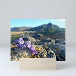 Purple Castle Flowers Mini Art Print