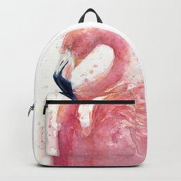 Pink Flamingo Watercolor Backpack