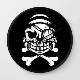 Jolly Pirate Wall Clock