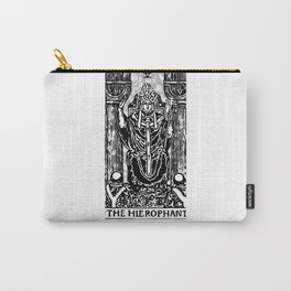 Floral Tarot Print - The Hierophant Carry-All Pouch
