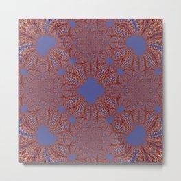 Sequential Baseline Mandala 12p Metal Print
