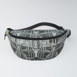Pewter, art nouveau, metallic art work, belle époque,victorian,vintage photo,manipulated Fanny Pack