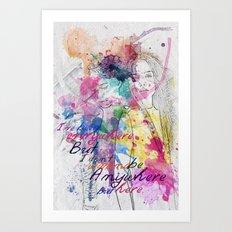 anywhere but here Art Print