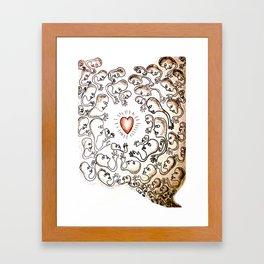 """""""Amour"""" Framed Art Print"""