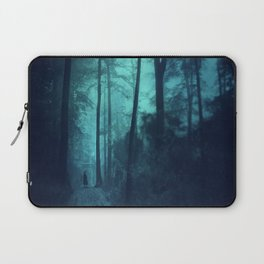 Light in a cyan forest Laptop Sleeve
