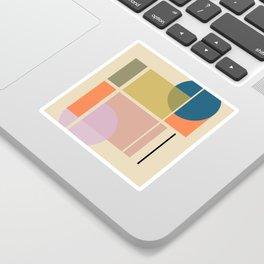 Modern geometric shapes Sticker