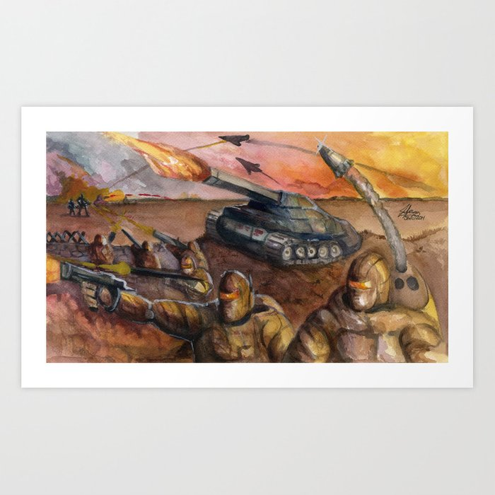 In The Crossfire Art Print