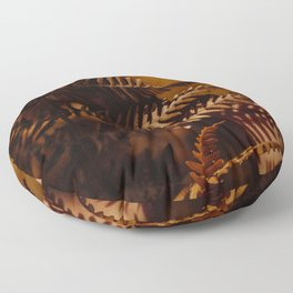 Autumn Fern Tree Leaf Brown Coffee Color Floor Pillow