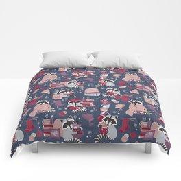 Hygge raccoon Comforters
