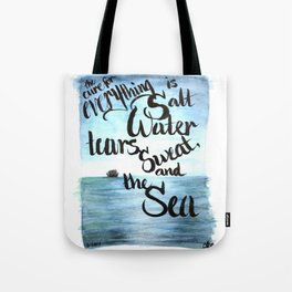 salt water Tote Bag