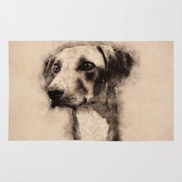Azawakh Sighthound Sketch Rug
