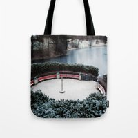 oslo Tote Bags featuring Oslo by Infra_milk