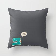 sewing yo. Throw Pillow