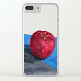 Single red Clear iPhone Case