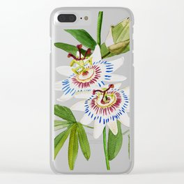 Passionflower Clear iPhone Case