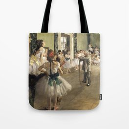 The Dance Lesson - Edgar Degas Tote Bag