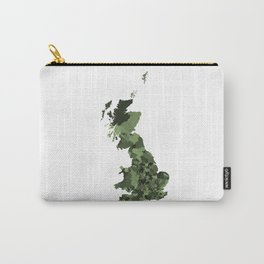 Great Britain Map Print Abstract in Army Camouflage Greens - A great talking piece for the home! Carry-All Pouch