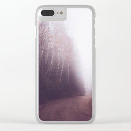 Foggy Forest Trail Clear iPhone Case