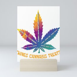 Cannabis Health Care Medical Cannabis Smoker Gift Mini Art Print