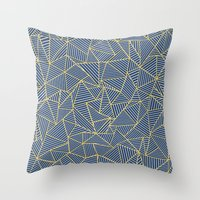 Ab Out Double R Navy Throw Pillow