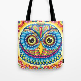 Tropicalia Owl Art Tote Bag