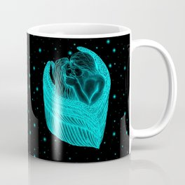 Angels Kissing , black and green Design Coffee Mug