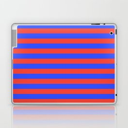 Even Horizontal Stripes, Blue and Red, M Laptop & iPad Skin