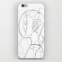 suit iPhone & iPod Skins featuring Suit by Maegan Ochse