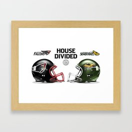 Falcons / Rats House Divided Framed Art Print
