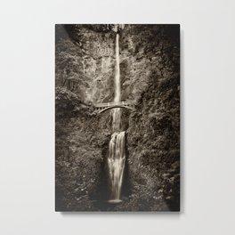 Waterfalls-B&W-Sepia Metal Print