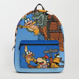 Father and His Children Backpack