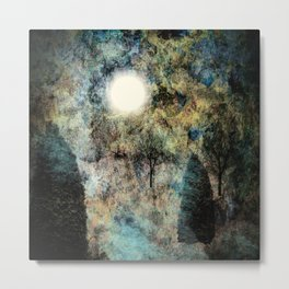 Landscape Glowing in Blue Metal Print