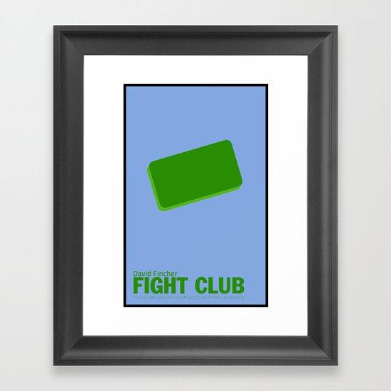 Fight Club | Minimalist Movie Posters Framed Art Print