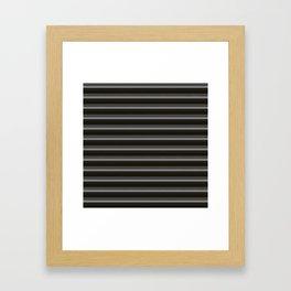 Black Ombre Stripes Framed Art Print