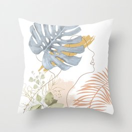 Line in Nature III Throw Pillow