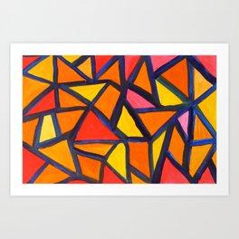 Striking Abstract Pattern Art Print