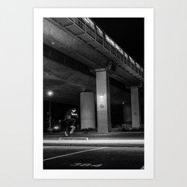 Rockridge No-Comply Kickflip Art Print