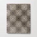 Black and Tan Geometric Modern Chrysanthemum Pattern by madzakka