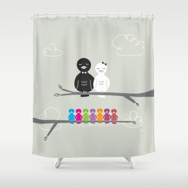 The Happy Family Shower Curtain