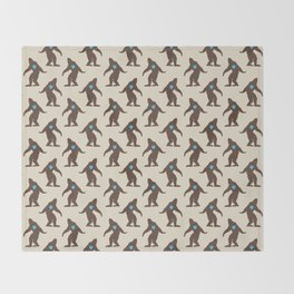 Bigfoot LOVE Throw Blanket