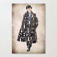 sherlock holmes Canvas Prints featuring Sherlock Holmes by A Deniz Akerman