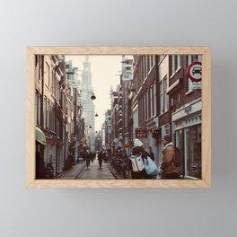 Streets of Amsterdam Framed Mini Art Print